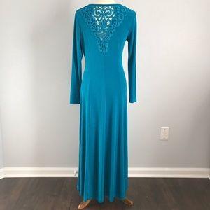 Vintage 90's Long Sleeve Maxi Dress